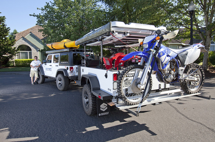 Hitched Up Overland Trailer