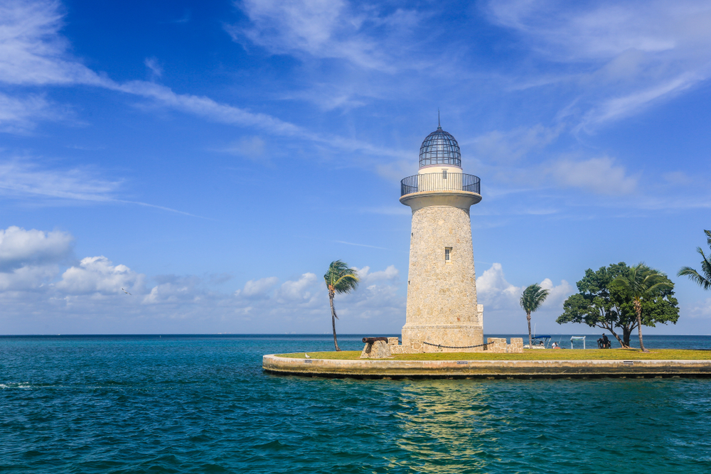The remote Boca Chita Key is part of the Biscayne National Park. The highlight of an island stay is the 65 foot ornamental lighthouse