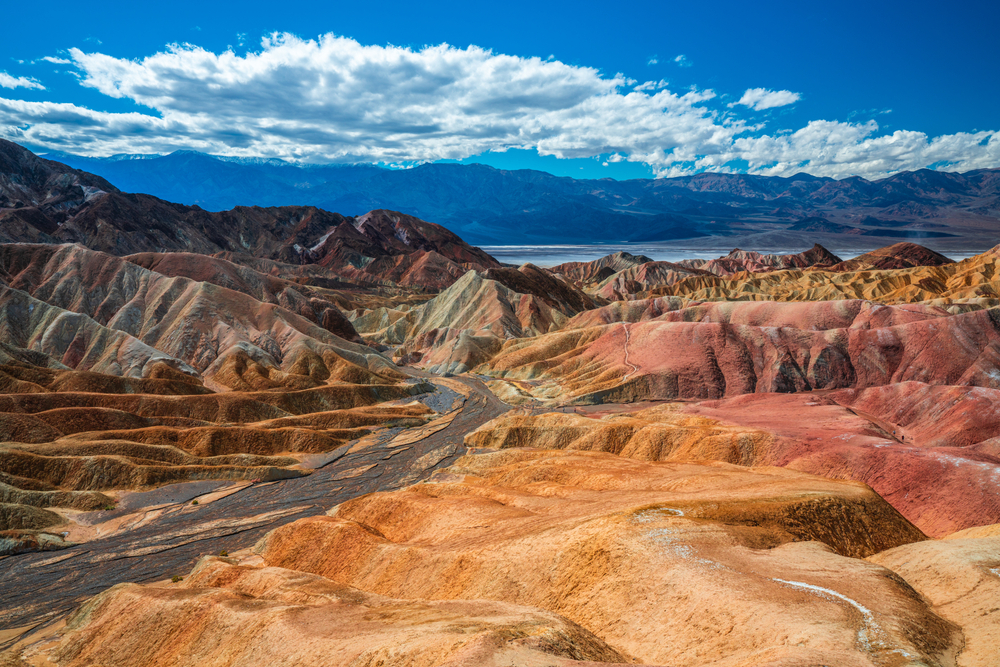 Zabriskie Point at Death Valley National Park Winter Storms amazing Landscape & Nature Photography