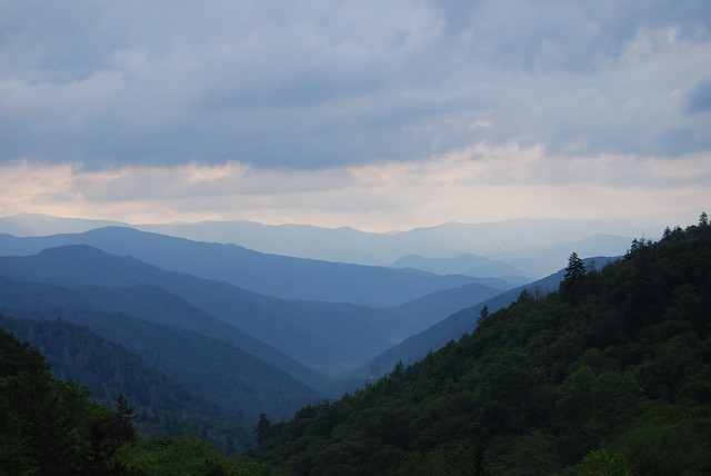 a haze over the Great Smoky Mountains National Park