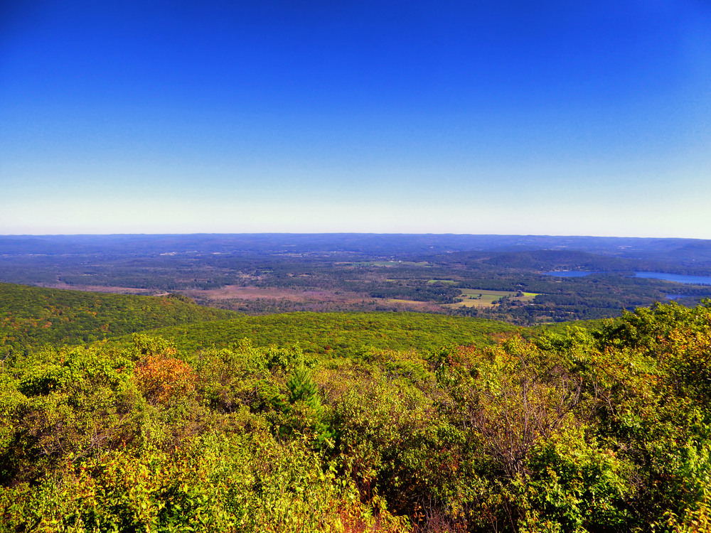 Bear Mountain, is a prominent peak of the southern Taconic Mountains. It lies within the town of Salisbury, Connecticut, in the United States.