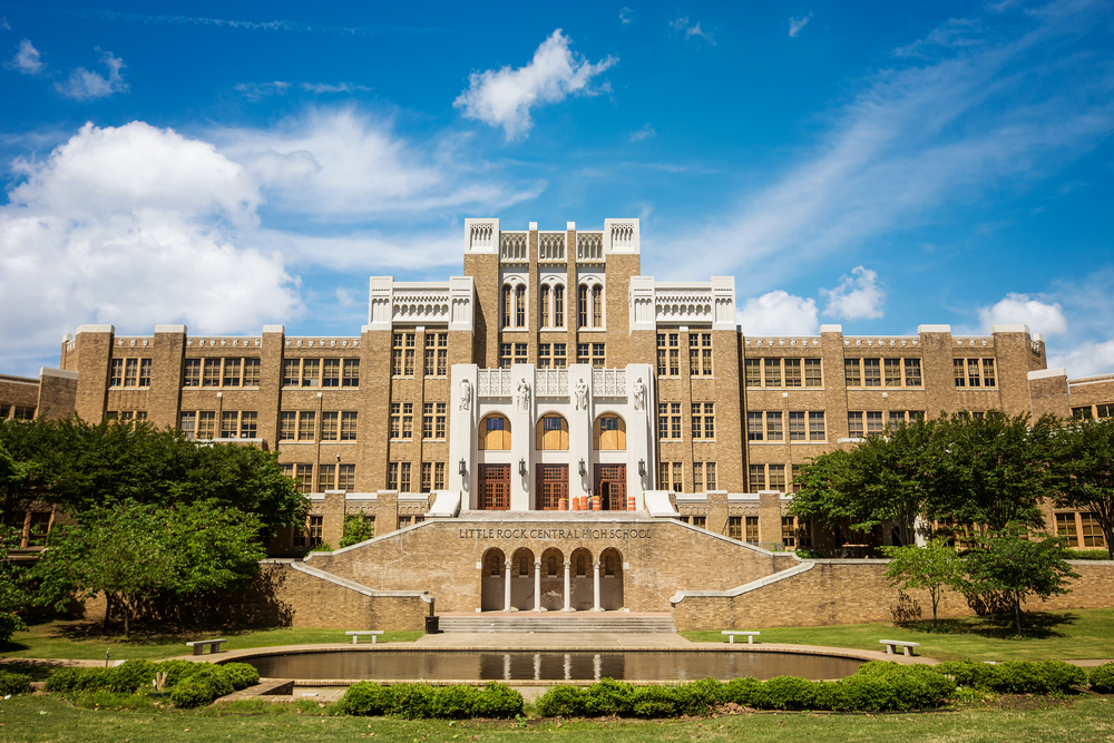 Little Rock, Arkansas: 01-10-2020: Little Rock Central High School, which is a National Historic Site.