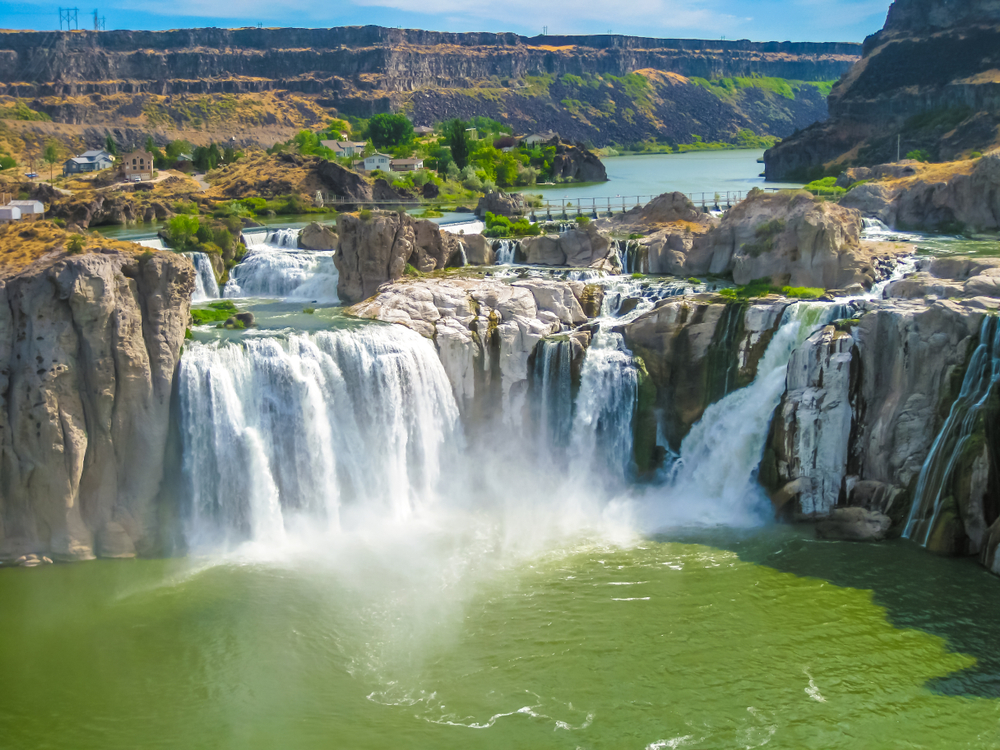 Spectacular aerial view of Shoshone Falls or Niagara of the West, Snake River, Idaho, United States.