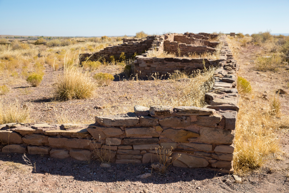 The remains of ancient ruins from the Pueblo people in western Kansas