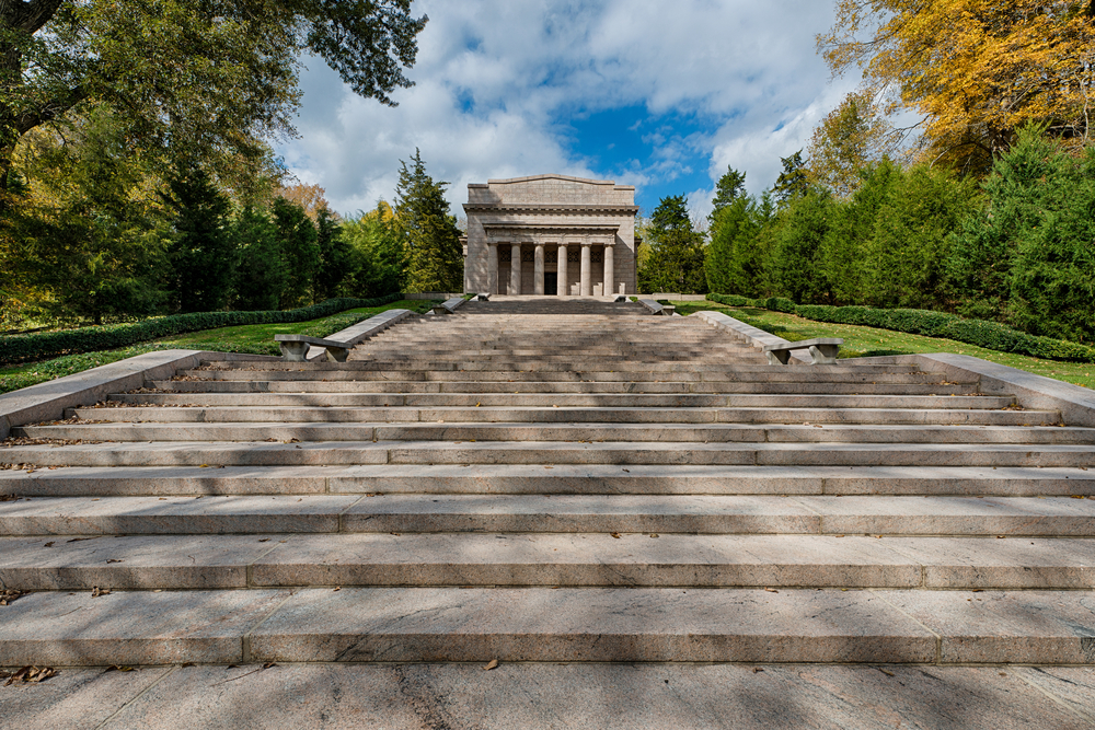 The first Lincoln Memorial building (1911) at Abraham Lincoln Birthplace National Historical Park in Hodgenville, Kentucky