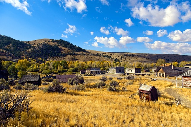 old homes and outbuildings at Bannack State Park