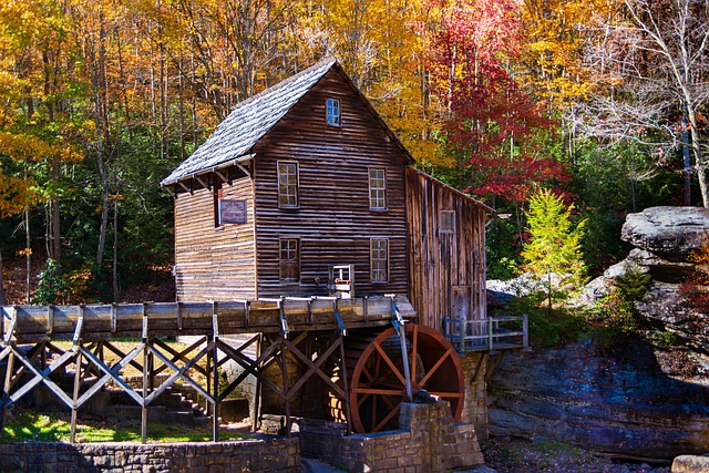 a grist mill at Babcock State Park