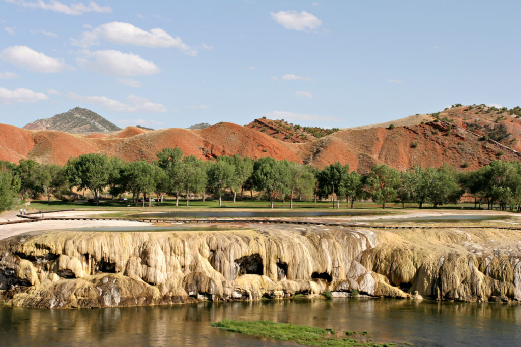 Hot Springs State Park in Thermopolis Wyoming