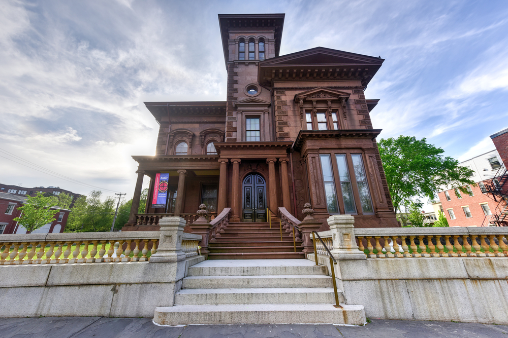 Portland, Maine - May 30: 2016: Victoria Mansion, also known as the Morse-Libby House or Morse-Libby Mansion, is a landmark example of American residential architecture in downtown Portland, Maine.
