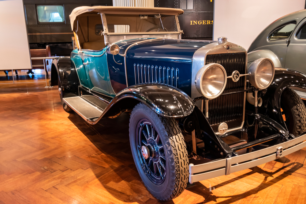 Dearborn, Mi, Usa - March 2019: The 1927 Cadillac LaSalle roadster presented in the Henry Ford Museum of American Innovation.