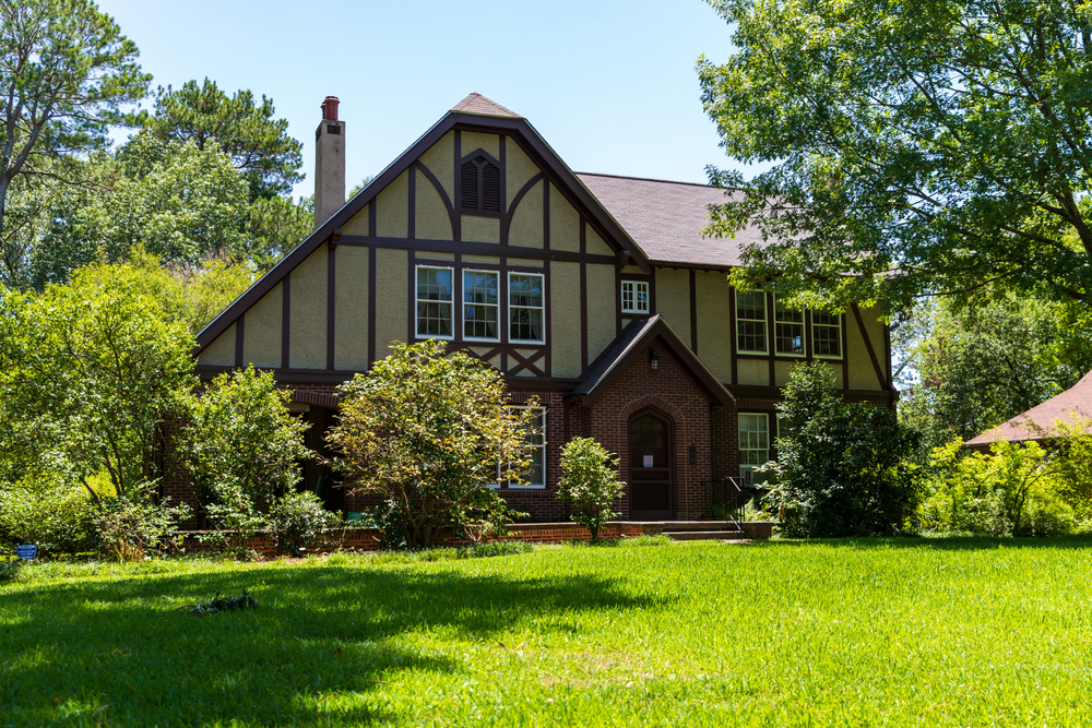 Jackson, MS, USA - June 10, 2020: The Eudora Welty House, a National Historic Landmark, located in the Belhaven Neighborhood in Jackson, MS