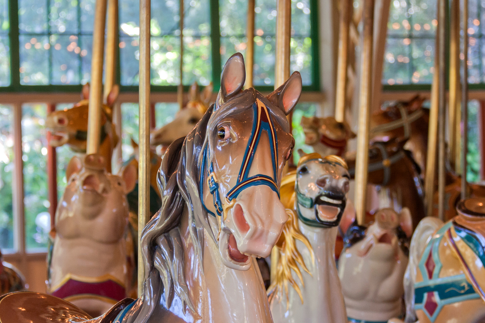Only a few original Dentzel Carousels still exist, and the one in Meridian is the oldest in the country.