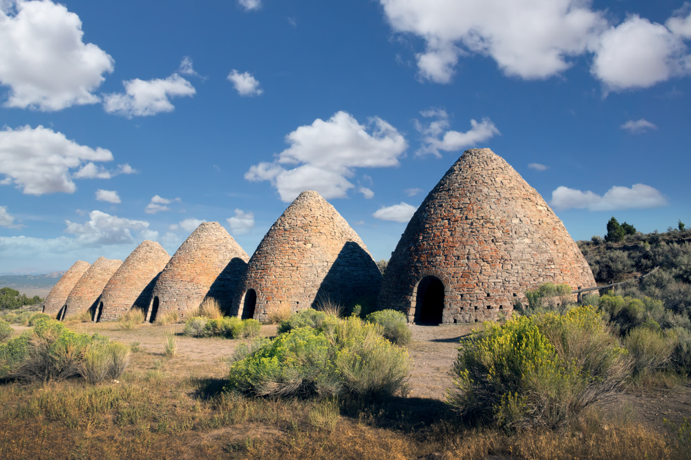 Ward Charcoal Ovens are a collection of six 30 feet high, beehive-shaped charcoal ovens located inside the Ward Charcoal Ovens State Historic Park in the Egan Mountain, Nevada, USA