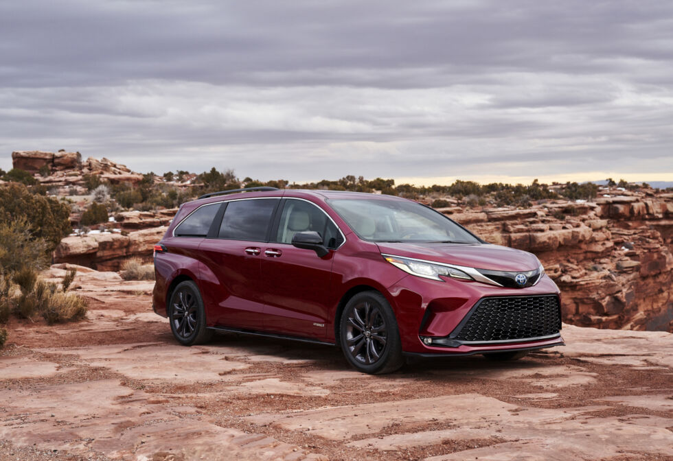 The Toyota Sienna is now a hybrid.
