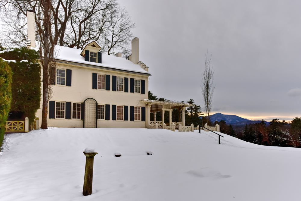 Augustus Saint-Gaudens' home in Cornish, called Aspet in Saint-Gaudens National Historic Site in New Hampshire.