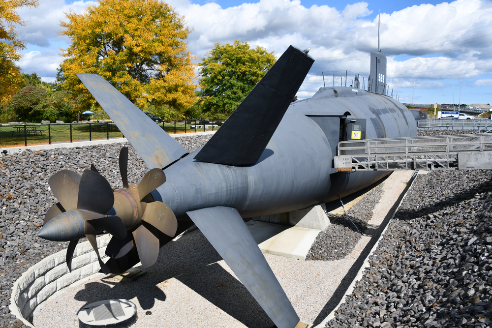 PORTSMOUTH, NH - OCT 3: The USS Albacore Submarine (AGSS-569) in Portsmouth, New Hampshire, as seen on Oct 3, 2020.