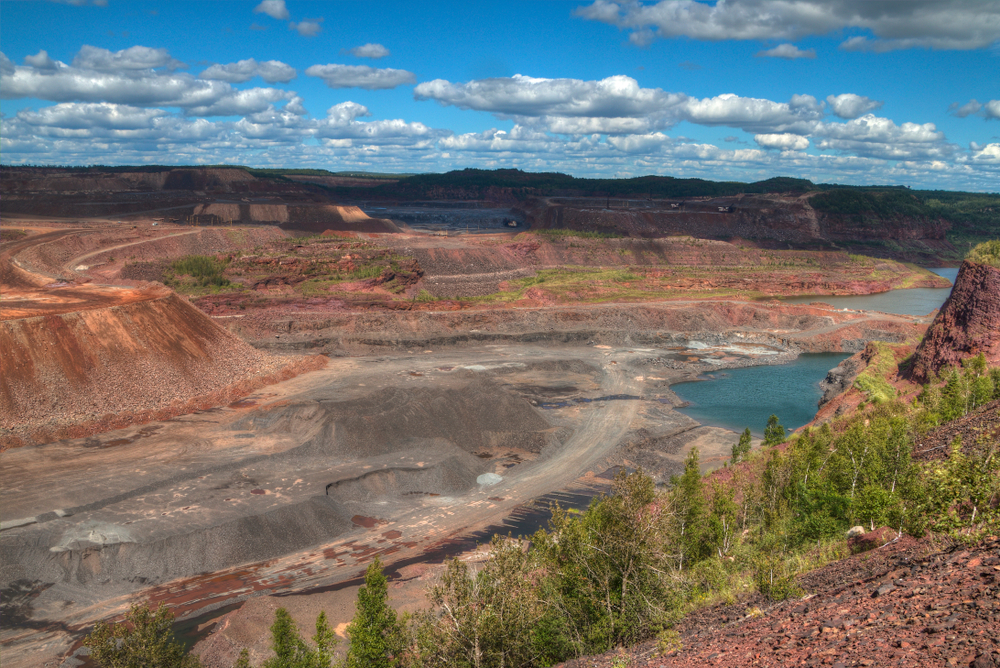 Mountain Iron Mine is one of the largest pit mines in the world.