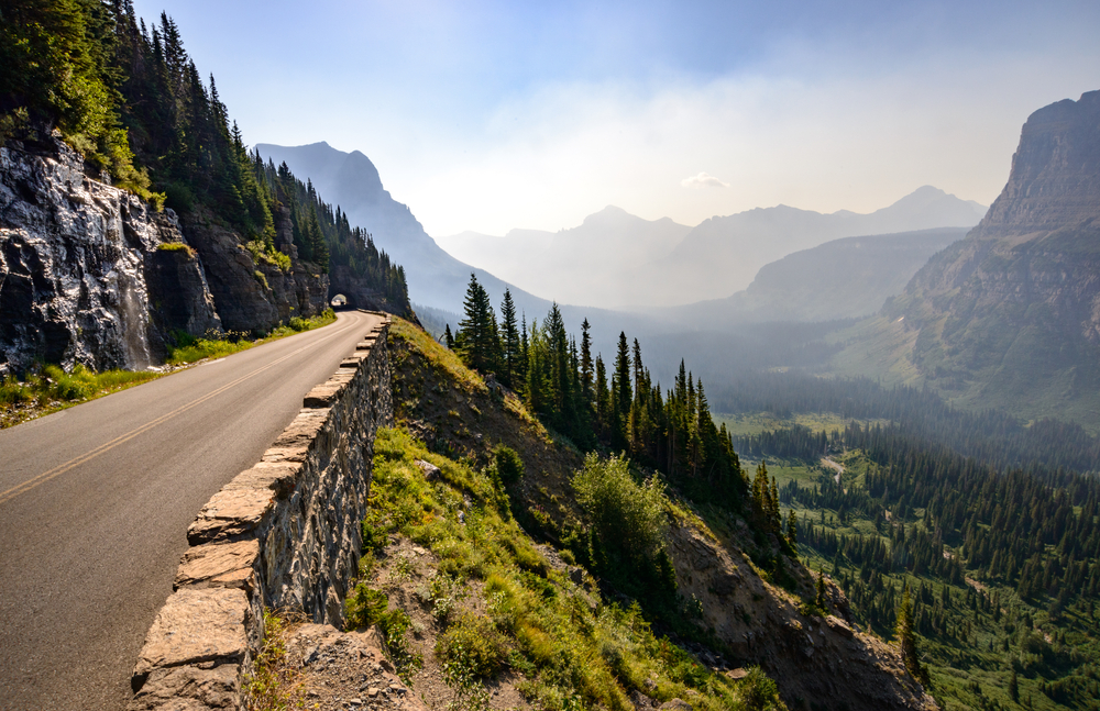 Going-to-the-Sun Road and Tunnel with Valley View, Glacier National Park