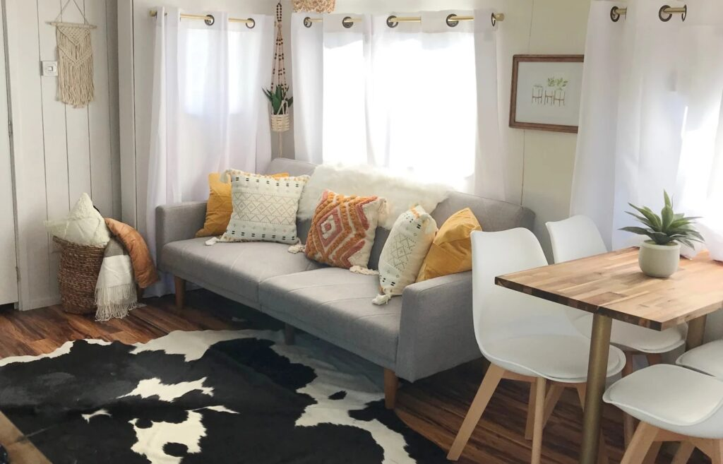 Cute remodeled RV living space
