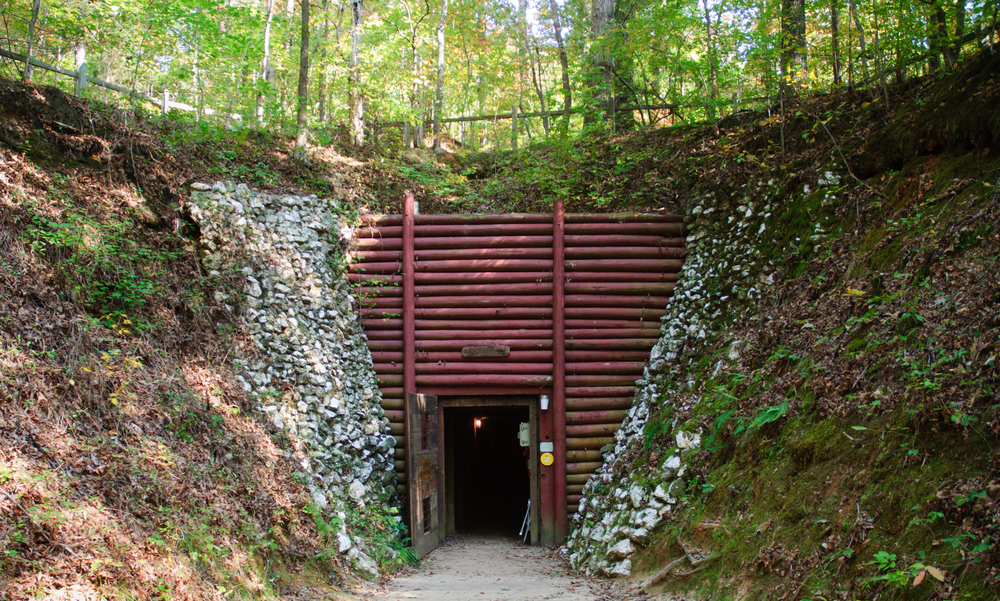 Reed Gold Mine wooden entrance