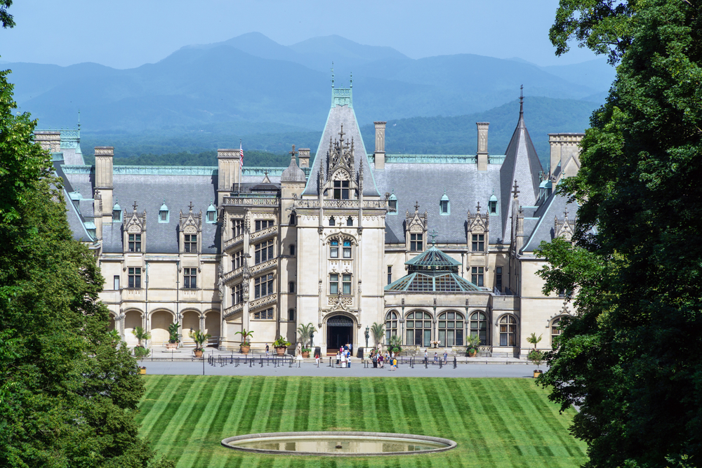 June 2020. A view on Biltmore Estate a historic house museum and tourist attraction in Asheville, North Carolina.