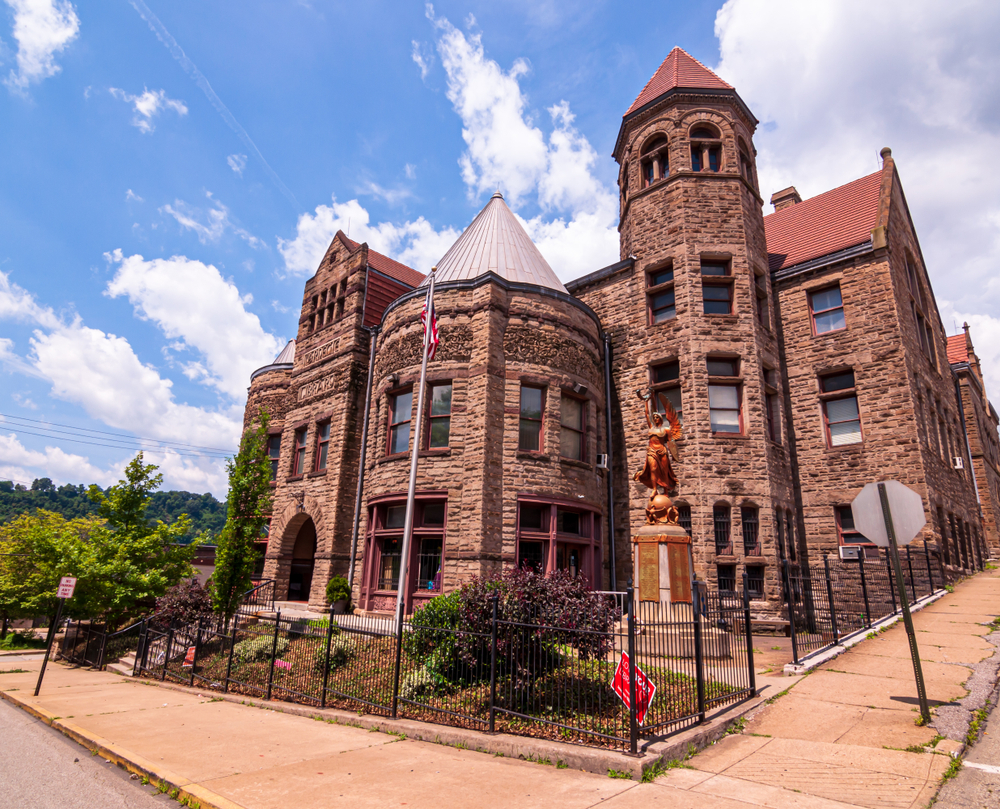 Braddock, Pennsylvania, USA 6/29/2019 The Carnegie Library of Braddock, the first public library funded by Andrew Carnegie