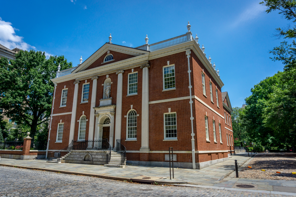 Library of the American Philosophical Society established by Benjamin Franklin