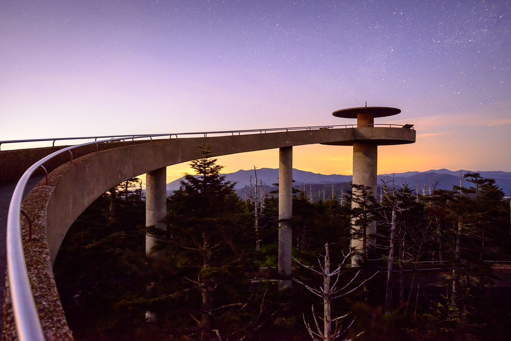 Clingman's Dome in the Great Smoky Mountains of North Carolina