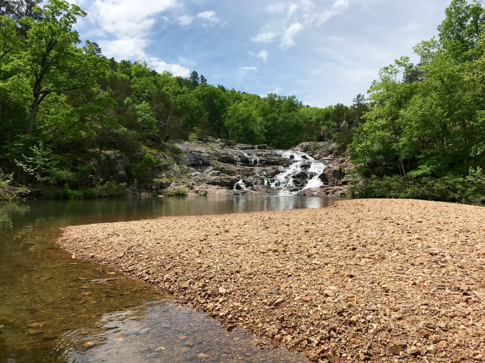 Rocky Falls and Sand Bank