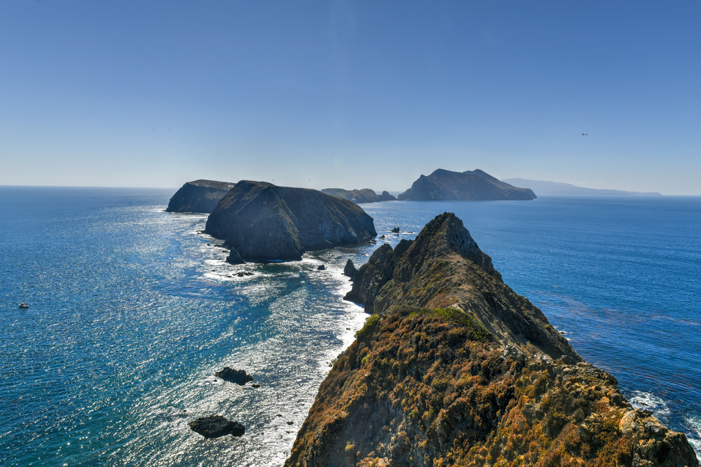 View from Inspiration Point, Anacapa island, California in Channel Islands National Park.